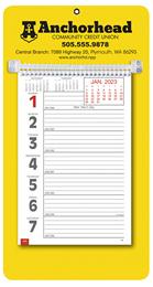 Promotional Big Numbers Weekly Memo Calendar 2018 - Yellow