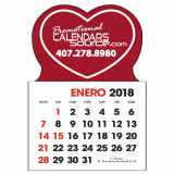Stick-Up Calendar Heart shape, Spanish, Calendario en Español