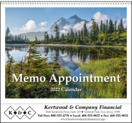 Memo Appointment with Picture Promotional Calendar 2016