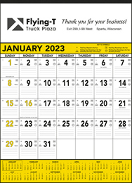 Yellow & Black Contractor s Memo (13-sheet) Promotional Calendar 2018