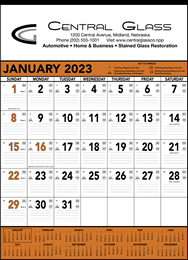Orange & Black Contractor s Memo (13-sheet) Promotional Calendar 2018