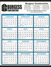 Span-A-Year Non-Laminated Large Format Calendar Size 22x29