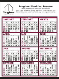 Big Numbers Span-A-Year Commercial Calendar Size 22x29