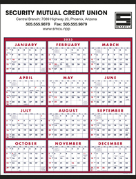 Span-A-Year Commercial Calendar 2018 Size 22x29