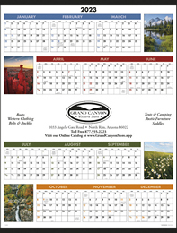 Scenic Span-A-Year Promotional Calendar 2018 Size 22x29