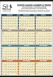 12 Months In View (Non-Laminated) Promotional Calendar