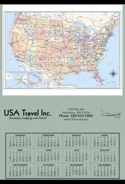 Jumbo Hanger Span-A-Year Promotional Calendar 2018 - USA Map