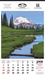 Vertical Hanger Promotional Calendar 2018 - Mt. Rainier National Park Size 12x20.5