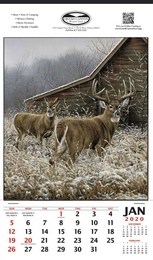 Vertical Hanger Promotional Calendar 2016 - Whitetail Deer
