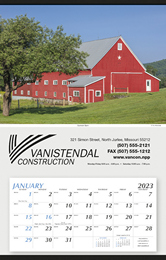 Large Hanger Promotional Calendar 2018 - Summer Barn 18x28