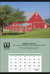 Jumbo Hanger Promotional Calendar - Summer Barn