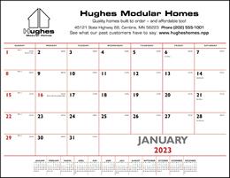 Desk Pad Calendar with Red & Black Imprint