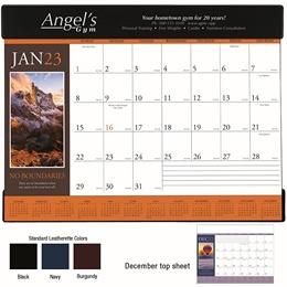 Motivations Promotional Desk Pad Calendar 2018 w/ vinyl header