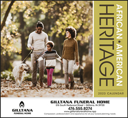 African-American Heritage Family Promotional Calendar 2017