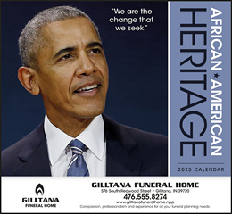 African-American Heritage Barack Obama Promotional Calendar 2018
