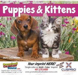 Puppies & Kittens Promotional Calendar 2018 Spiral
