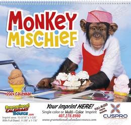 Monkey Mischief Promotional Calendar 2017 Spiral
