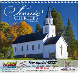 Scenic Churches - Promotional Calendar 2018 Spiral