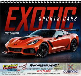 Exotic Sports Cars Promotional Calendar 2018 Spiral