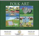 Folk Art Promotional Calendar 2018 Spiral
