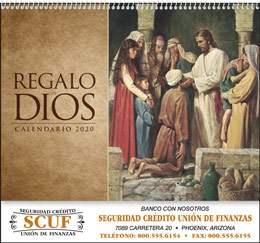 Regalo de Dios w Funeral Pre-Planning Form Calendar Spanish