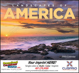 Landscapes of America Promotional Calendar, 2017 Stapled