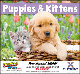 Puppies & Kittens Promotional Calendar 2018 Stapled