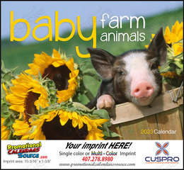 Baby Farm Animals Promotional Calendar 2018 Stapled