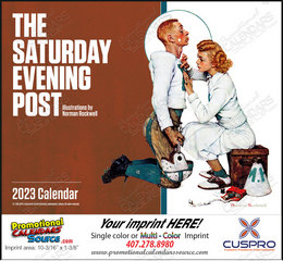 The Saturday Evening Post Promotional Calendar 2018 Stapled