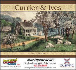 Currier & Ives Promotional Calendar 2017 Stapled
