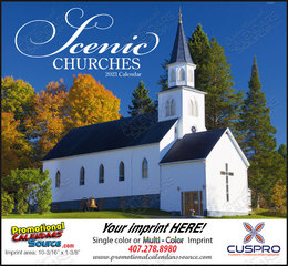 Scenic Churches Promotional Calendar 2017 Stapled