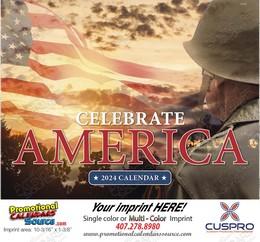 Celebrate America Promotional Calendar 2018 Stapled