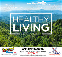 Healthy Living Promotional Calendar 2018 Stapled
