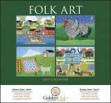 Folk Art Promotional Calendar 2017 Stapled