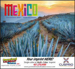 Mexico Promotional Calendar 2018 Stapled