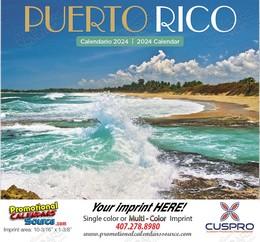 Puerto Rico Promotional Calendar 2018 Stapled