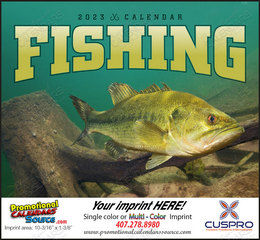 Fishing Promotional Calendar 2018 Stapled