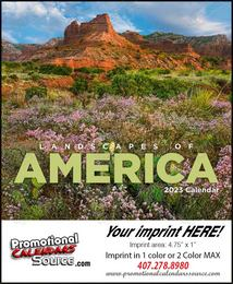 Mini Promotional Calendar Landscapes of America 2017