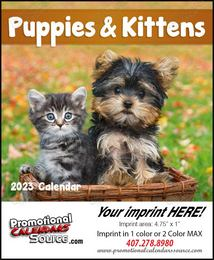 Puppies & Kittens - Mini Promotional Calendar 2015