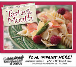 Taste of the Month Wall Calendar 2017 Stapled