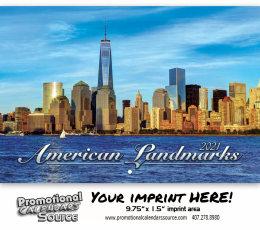 American Landmarks Wall Calendar 2018 - Stapled