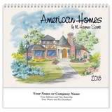 American Homes Wall Calendar 2018 - Spiral