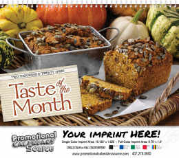 Taste of the Month Wall Calendar 2017 Spiral