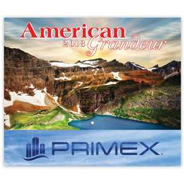American Grandeur Wall Calendar 2018 - Stapled