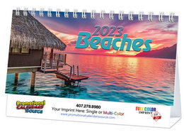 Beaches Promotional Desk Calendar 2018