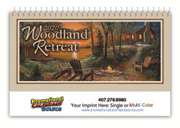 Woodland Retreats Promotional Desk Calendar 2018