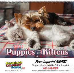 Puppies & Kittens 2018 Wall Calendar - Spiral