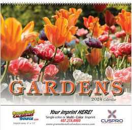 Gardens Promotional Wall Calendar 2018 Spiral