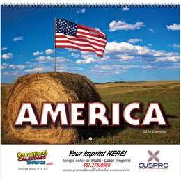 America! Promotional Wall Calendar 2018 Spiral