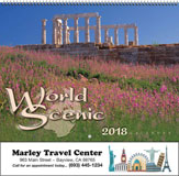 World Scenic Promotional Wall Calendar 2018 Spiral